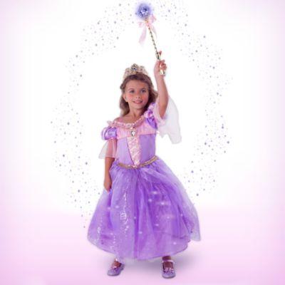 Déguisement lumineux Raiponce de luxe avec accessoires pour enfants