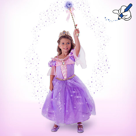 Rapunzel Deluxe Light Up Costume With Accessories For Kids