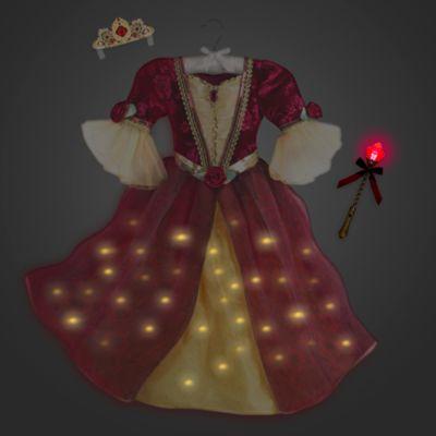 Déguisement lumineux Belle de luxe avec accessoires pour enfants