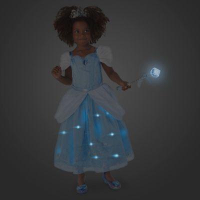 Déguisement lumineux Cendrillon de luxe avec accessoires pour enfants