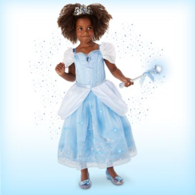 Disfraz infantil de lujo con luces Cenicienta con accesorios