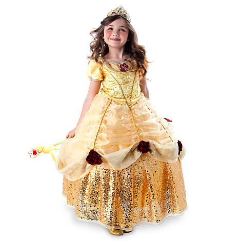 Belle luksuskostume med krinolinenederdel til børn, begrænset antal