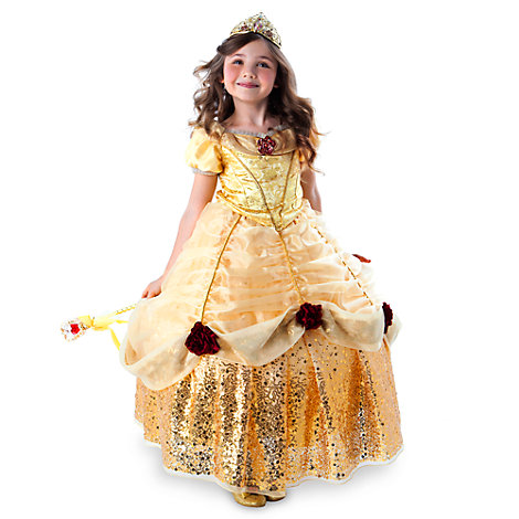 Belle Deluxe Limited Edition Costume With Hooped Skirt For Kids
