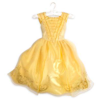 Vestido dorado infantil de primera calidad de Bella, La Bella y la Bestia