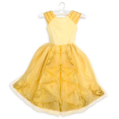 Belle Premium Gold Costume Dress For Kids, Beauty and the Beast