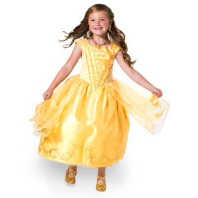 Maskeradklänningen Belle Premium Gold för barn, Skönheten och Odjuret