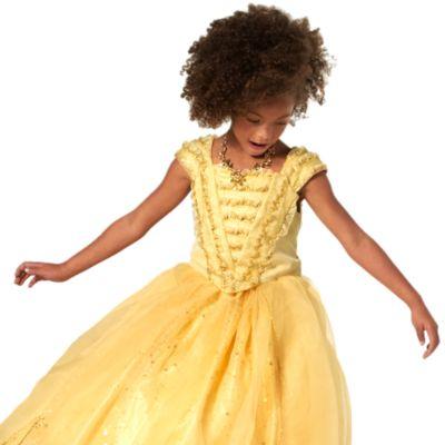 Maskeradklänningen Belle Deluxe för barn, begränsad upplaga, Skönheten och Odjuret