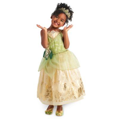 Tiana maskeraddräkt för barn, Prinsessan och Grodan