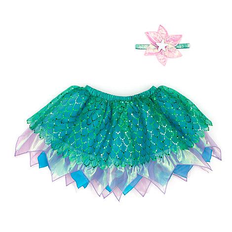 Ariel, set med ballerinakjol och accessoarer för barn, Den lilla sjöjungfrun