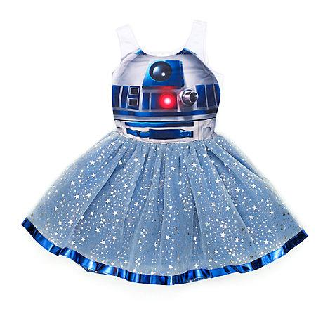 Vestido infantil con tutú de R2-D2