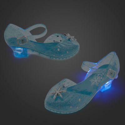Zapatos infantiles luminosos disfraz Elsa, Frozen