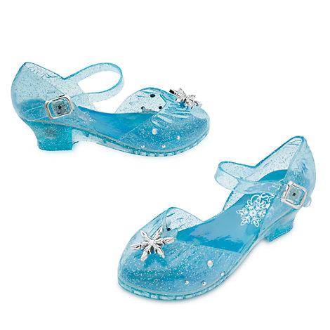 Elsa udklædningssko med lys til børn, Frost