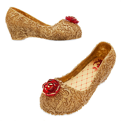 Disney Store Belle Shoes Gold