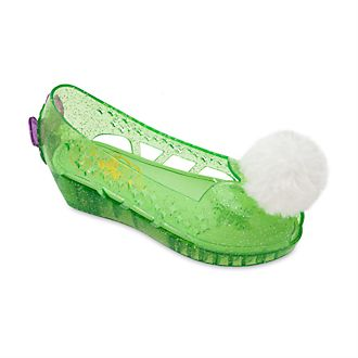 Disney Store Tinker Bell Glow-in-the-Dark Costume Shoes For Kids