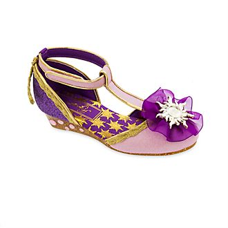 Zapatos disfraz Rapunzel con diseño en T para niña, Disney Store