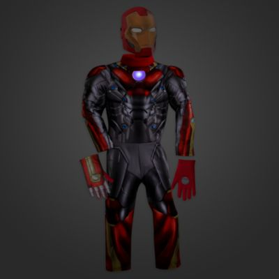 d guisement lumineux pour enfant iron man spider man homecoming. Black Bedroom Furniture Sets. Home Design Ideas