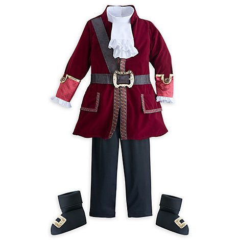 Captain Hook Costume For Kids, Jake and the Never Land Pirates