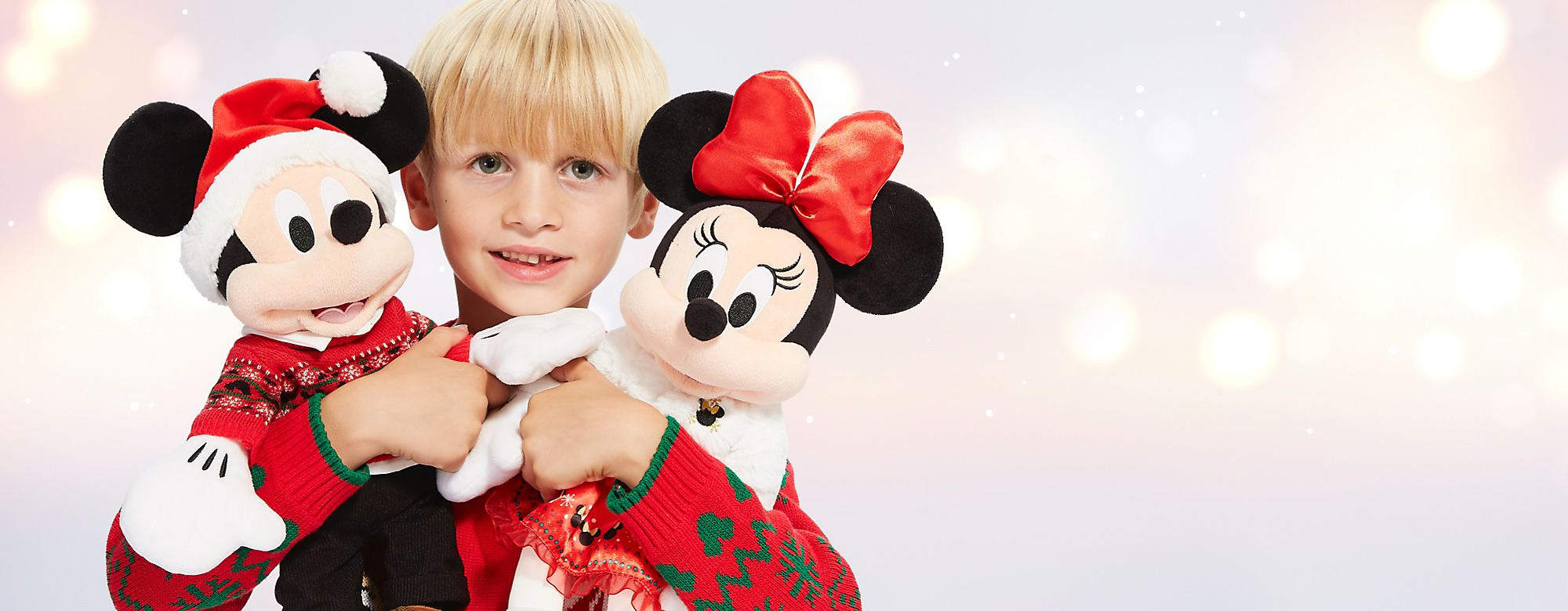 Spend £50 and get a selected Mickey or Minnie soft toy for £5 Worth up to £21