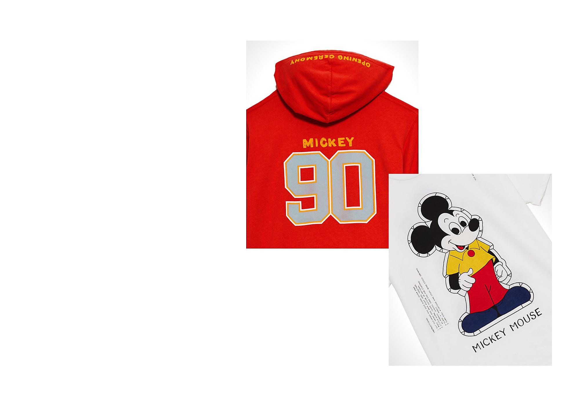 Showcased at Disneyland The Mickey-inspired collection designed by streetwear brand Opening Ceremony is a fashion-forward take on athleisure, first showcased on the runway at Disneyland California.