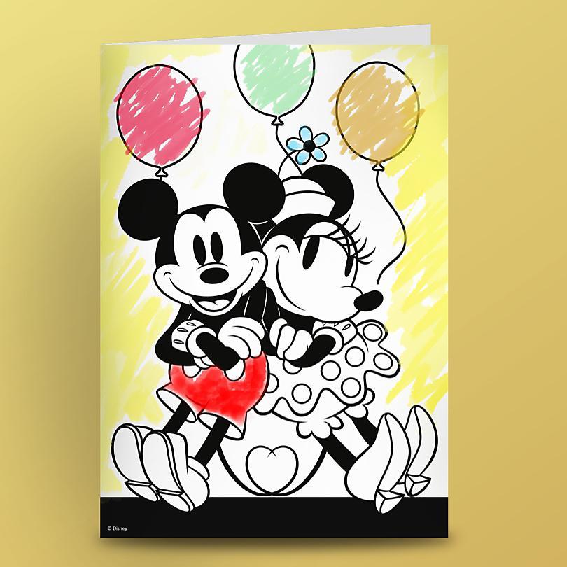 WRITE A BIRTHDAY CARD TO MICKEY