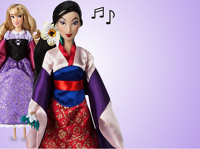 All New Disney Princess Singing Dolls Recreate classic fairytale fun with Aurora, Mulan, Belle and Anna SHOP NOW