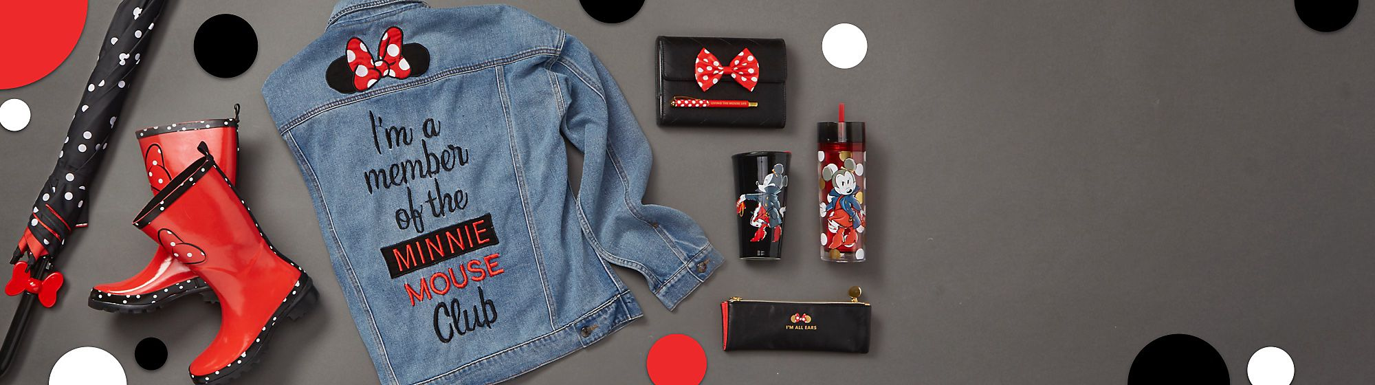 Minnie Rocks the Dots Inspired by Minnie's iconic love of polka dots, we celebrate National Polka Dot Day by launching this fashion-forward range