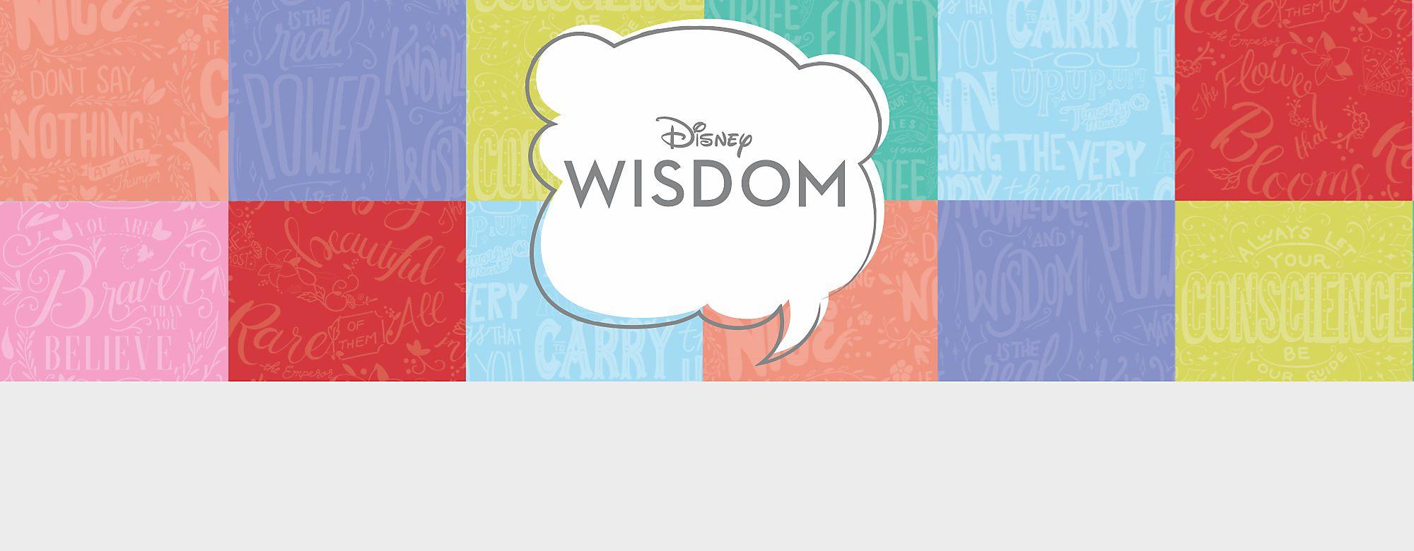 Ecco la nuova collezione del 2019 Ogni mese troverai un nuovo personaggio Disney, una citazione saggia dal film e un colore diverso. Colleziona tutti gli articoli e crea il tuo arcobaleno con Disney Wisdom
