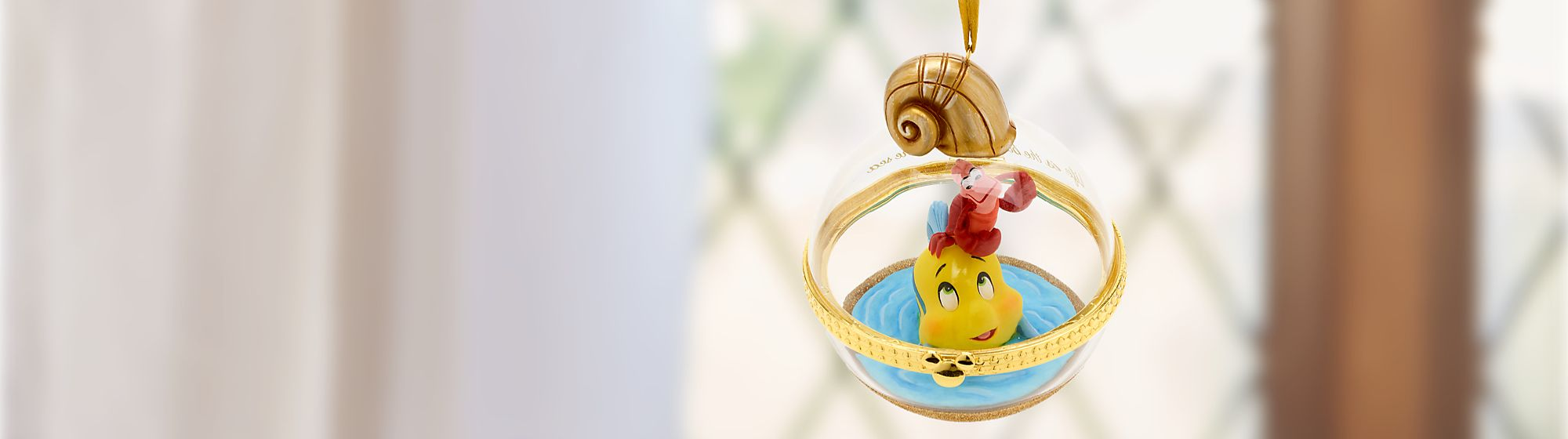 Dynamic Duos Hanging Ornament Let Flounder and Sebastian bring under-the-sea fun into your home Releases 21 June