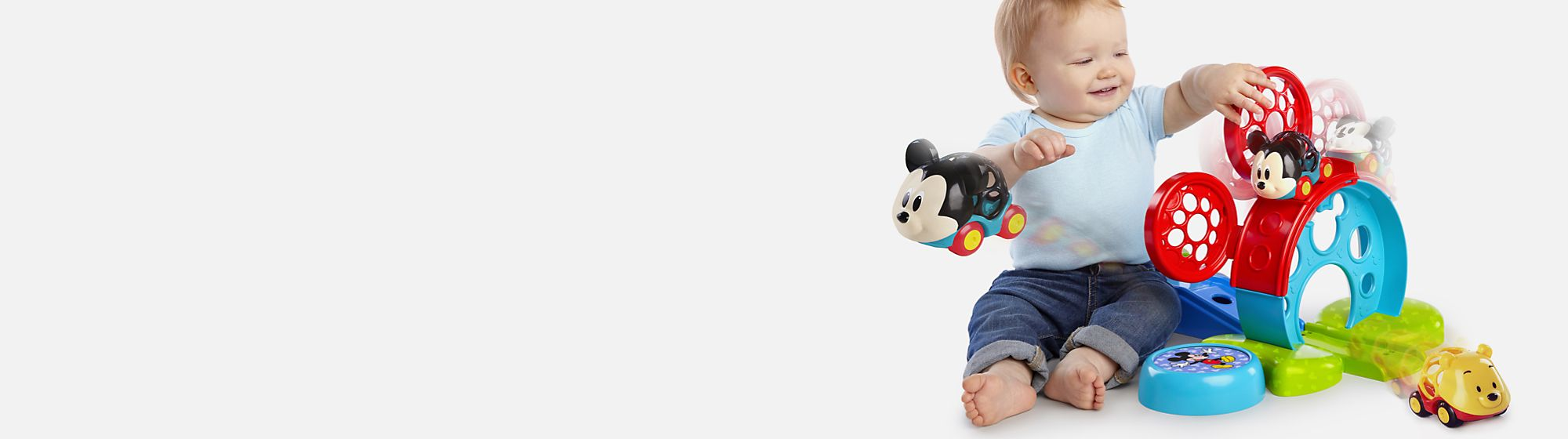 Nursery Toys Discover our range of nursery toys perfect for your littlest arrival featuring Mickey Mouse, Winnie the Pooh and more