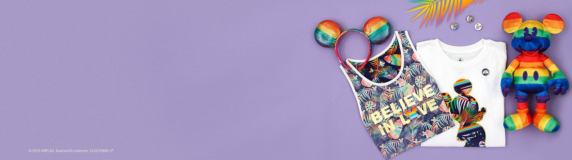 Colección Disney Rainbow Con motivo de la celebración del ORGULLO, hemos lanzado la colección Disney Rainbow. Disney España realizará una donación a ARELAS, asociación a favor de la diversidad y la inclusión