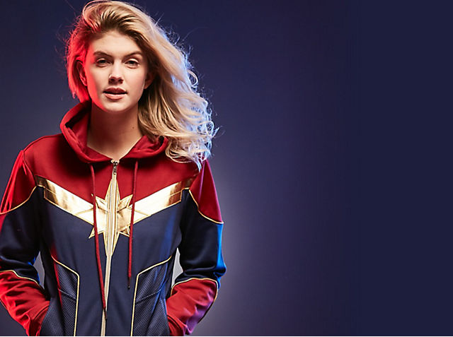 Captain Marvel Explore our intergalactic range of clothing, costumes and more SHOP NOW