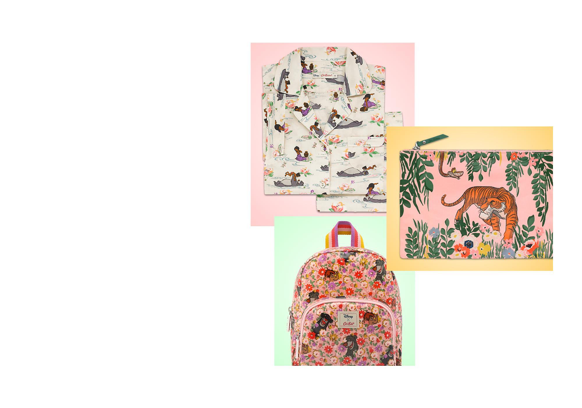 Il en faut peu pour être heureux Retrouvez la nouvelle collection Cath Kidston x Le Livre de la Jungle: vêtements, accessoires, articles pour la maison et bien plus !