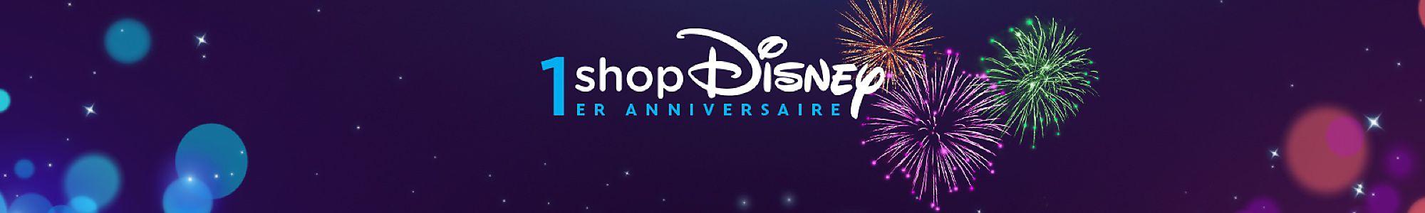 shopDisney fête ses 1 an ! Des nouveautés, offres spéciales et jeux-concours vous attendent ! | En ligne seulement