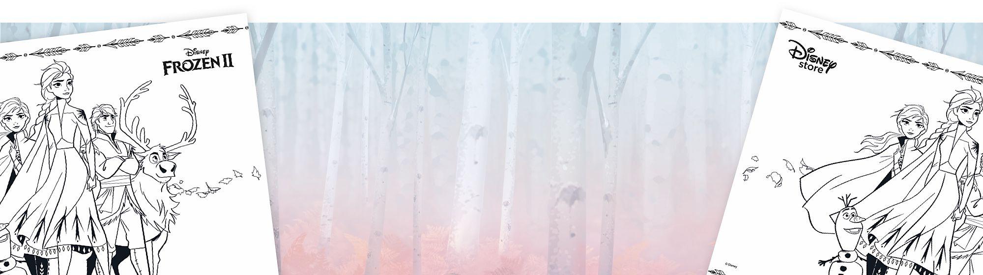Non riesci a partecipare alle attività in Store? Scarica il bellissimo foglio da colorare di Frozen 2!