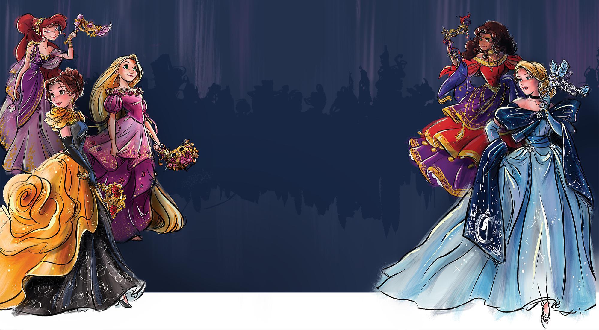 La collection Disney Designer a le plaisir de vous présenter la gamme Midnight Masquerade Series, inspirée de la féérie des bals au clair de lune et de l'élégance des héroines Disney. Conçues par les artistes du Disney Store, ces poupées portent des masques aux motifs légendaires finement sculptés.