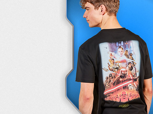 Star Wars Clothing Explore a galaxy far, far away with our all-new collection SHOP NOW
