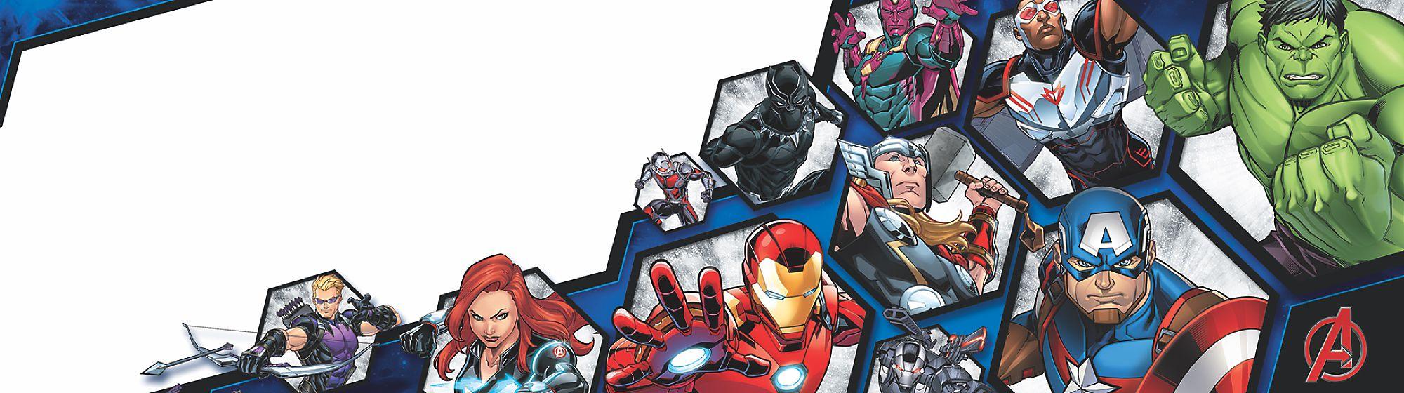 Marvel Entdecke unsere fantastische Kollektion an Kostümen, Spielzeugen, Schreibwaren und viele weitere Artikel, inspiriert von den Marvel Superhelden!