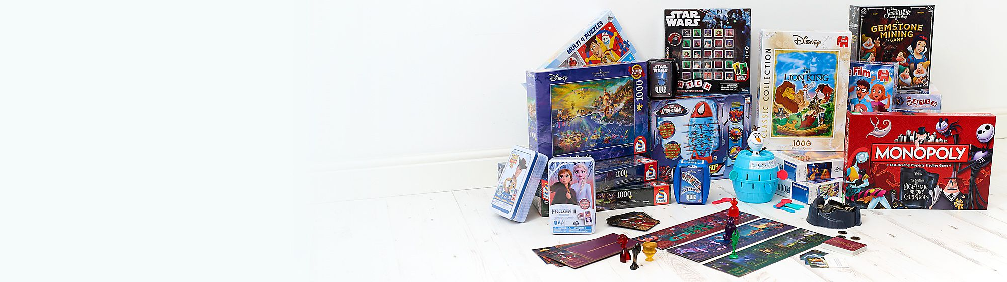 Games & Puzzles Explore our range of Disney, Pixar, Star Wars and Marvel puzzles featuring your favourite characters