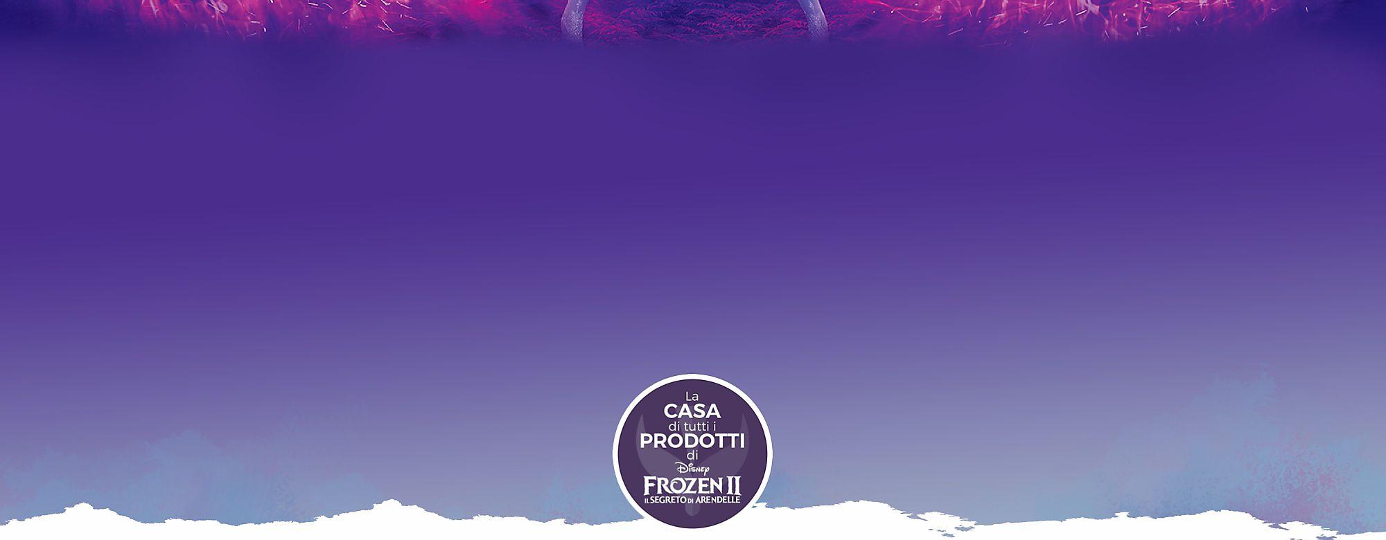 Frozen 2 - Il segreto di Arendelle: prodotti ufficiali, giocattoli, costumi, trailer, data di uscita del film e molto altro ancora! Benvenuti nella casa ufficiale dei prodotti di Frozen 2 inclusi giocattoli, bambole, costumi in maschera e altro ancora. Entra nell'ignoto e guarda l'ultimo trailer qui sopra prima che il film arrivi nei cinema il 27 novembre. Parti per questo magico ma pericoloso viaggio con Elsa, Anna, Kristoff, Olaf e Sven mentre iniziano a scoprire l'origine dei poteri di Elsa. ACQUISTA ORA