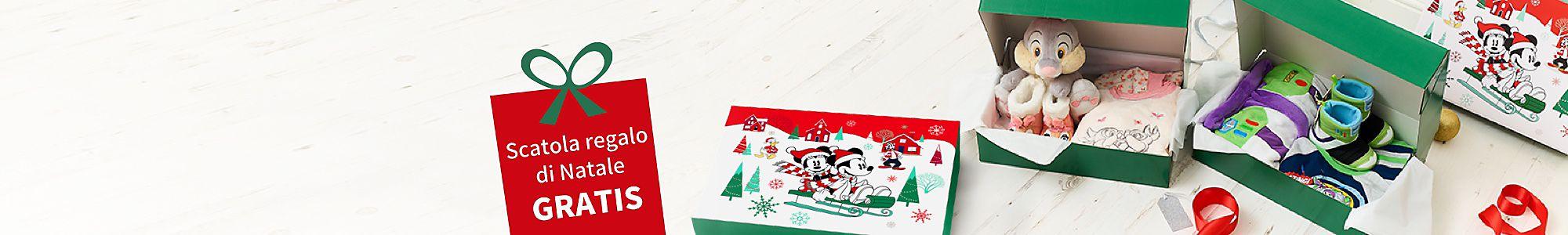 Scatola regalo di Natale gratis Con l'acquisto di due articoli a scelta  fra quelli selezionati della collezione notte