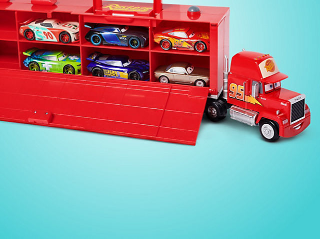 Camión transportador de coches con motor fricción: solo 45 € Puede transportar hasta 16 coches movimiento por retroceso a escala e incluye sonidos