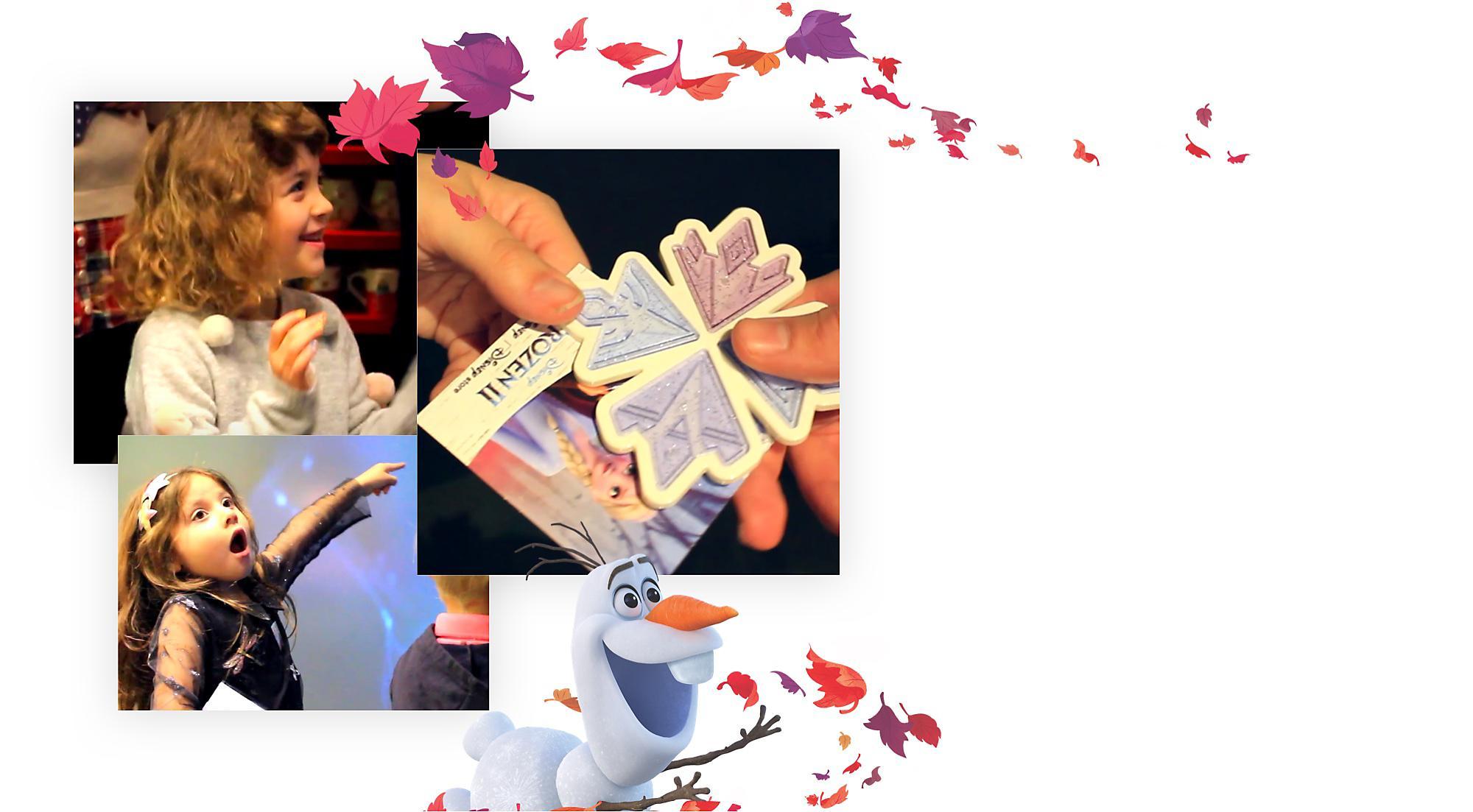 Viaggia nell'ignoto con la nostra avventura di Frozen 2! I primi 100 fortunati riceveranno anche una speciale decorazione di Frozen 2, fino ad esaurimento scorte.   Date e orari: sabato 7 e domenica 8 dicembre alle 11:00 sabato 14 e domenica 14 dicembre alle ore 11:00 sabato 28 e domenica 29 dicembre alle ore 11:00  Solo in Store selezionati. Contatta lo Store più vicino per maggiori informazioni. Attività adatte a bambini di più di 3 anni.