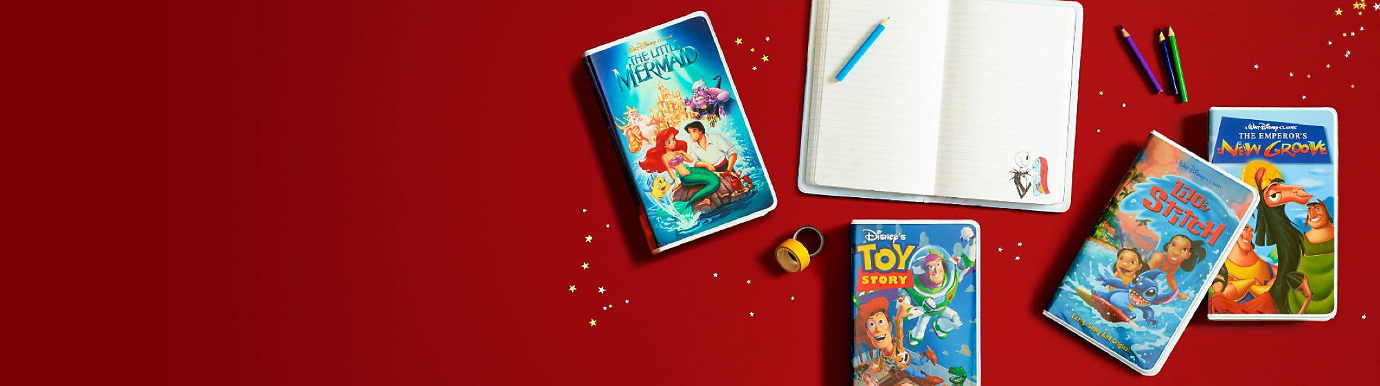 Stationery Discover our range of Disney stationery including notebooks, writing sets and much more. DISCOVER MORE