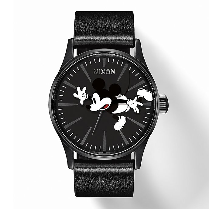 Nixon Mickey Mouse The Sentry Leather Watch