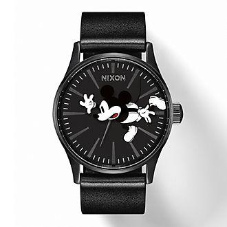 Nixon - Micky Maus - Sentry Leather Damenarmbanduhr