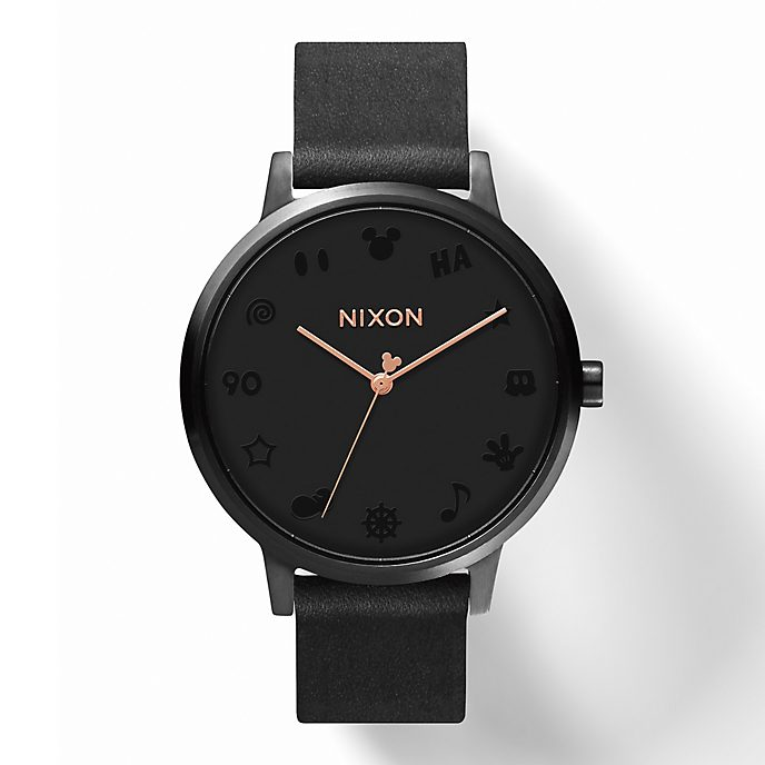 Reloj Kensington Leather Mickey Mouse para mujer, Nixon