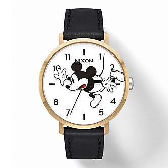 Reloj Arrow Leather Mickey Mouse para mujer, Nixon