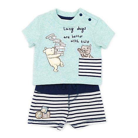 Conjunto de camiseta y pantalones cortos Winnie the Pooh para bebé