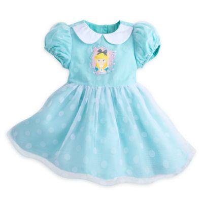 Alice i Eventyrland-sæt til baby med kjole samt strutskørt og trusser