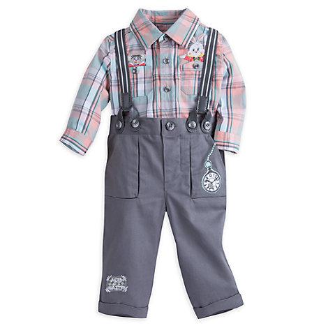 Alice i Eventyrland-sæt med skjorte og bukser